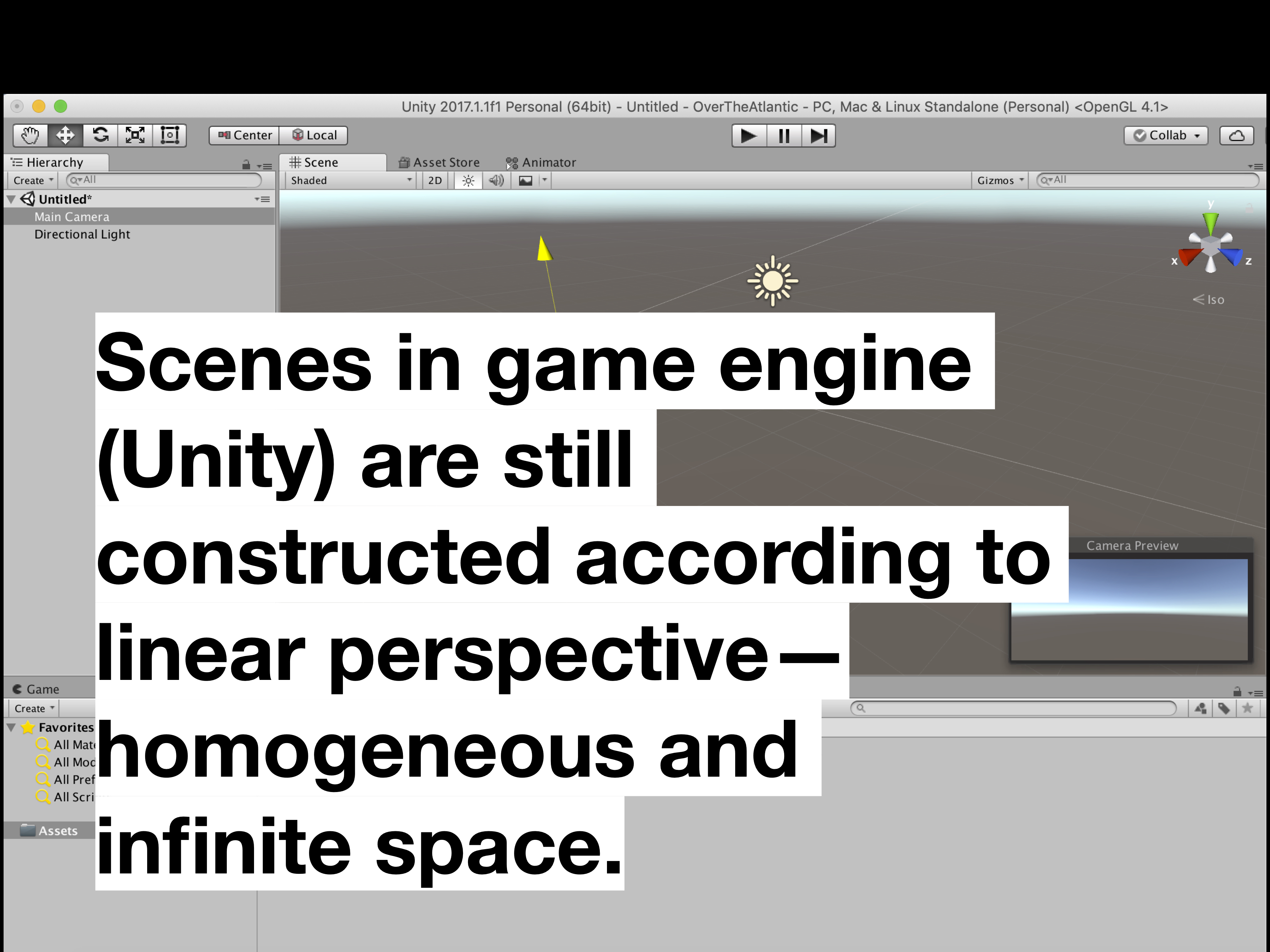 Unity screen linear